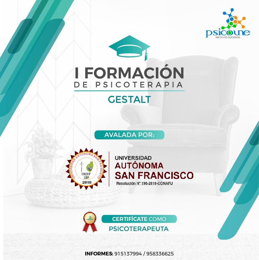 I FORMACION DE PSICOTERAPIA GESTALT